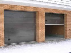 Гаражные секционные ворота с пружинами растяжения, 2500x2235
