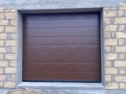 Гаражные секционные ворота с пружинами растяжения, 2750Х2125