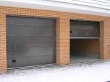Гаражные секционные ворота с пружинами растяжения, 2500x2135