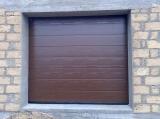 Гаражные секционные ворота с пружинами растяжения, 2500Х2125