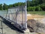 Стальные откатные ворота под обшивку (рама), 3500Х2000